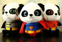Free Shipping 20 CM Soft Batman Panda Stuffed Toys Cute Plush Animals Toys Best Christmas Gifts Kids Toys For Children(China)