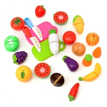High Quality 20PCS/SET Kitchen Fruit Vegetables Food Toy Cutting Set Kids Pretend Role Play Gifts Simulation Funny Toys