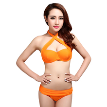 2017 women sexy swimwear swimsuits push up bikini lady beachwear bathing suit bikinis swimming suit for lady brazilian bikini(China)