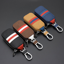 Genuine Leather car Key case for Lexus Audi Mercedes Peugeot Toyota Vw Skoda Bmw Hyundai Protective car key Covers case bag(China)