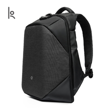K Click Anti-thief Solid Backpacks Scientific Storage System Bags External USB Charging Laptop Backpack For Man And Women(China)