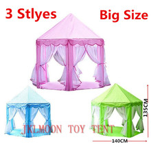 Big Size Kids Portable Princess Castle Play Tent Activity Fairy House Indoor Outdoor Playhouse Toy Gift Tents for Children Kids