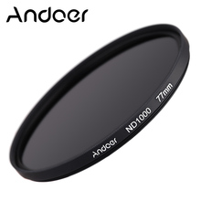 Andoer 77mm Optical glass ND Filter 1000 10 Stop Fader Neutral Density Filter for Nikon Canon DSLR Cameras