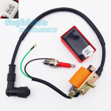 Racing Ignition Coil & 5 pin AC CDI & A7TC Spark Plug For 50cc 70cc 90cc 110cc ATV Quad Pit Dirt Bike Motorcycle Parts