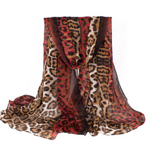 2017 Fashion Style Special Design Women Scarf Famous Brand Leopard Printing Red Lady Shawl Long Lightweight soft Size180*90cm(China)