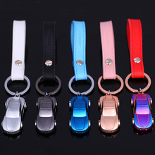 sports car keychain cute key ring for women LED light key chain key holder high quality sleutelhanger chaveiro llaveros hombre