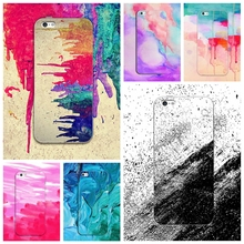 Water Color Phone Case For Apple Iphone 6 6S 6Plus 7 7Plus Case Graffiti Painted Oil Painting Doodle Design Cover Silicone Back