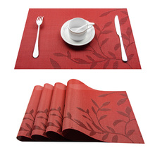 Top Finel Set of 4 PVC Flower Pattern Placemats for Dining Table Runner Linens Place Mat in Kitchen Accessories Cup Wine Mat(China)