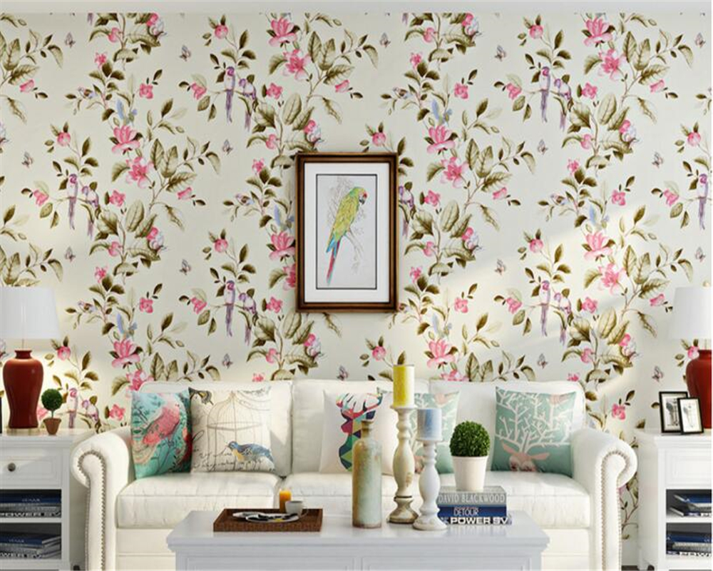 beibehang Vintage Classic Country Nonwoven Wallpaper Pastoral Large Scale Sofa TV Background 3d Wallpaper papel de parede tapety<br>
