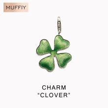 Green Clover Punk Charm,Thomas Style Muffiy Club Good Jewelry For Women,Ts Lucky Gift In Sterling Silver Fit Bag Bracelet