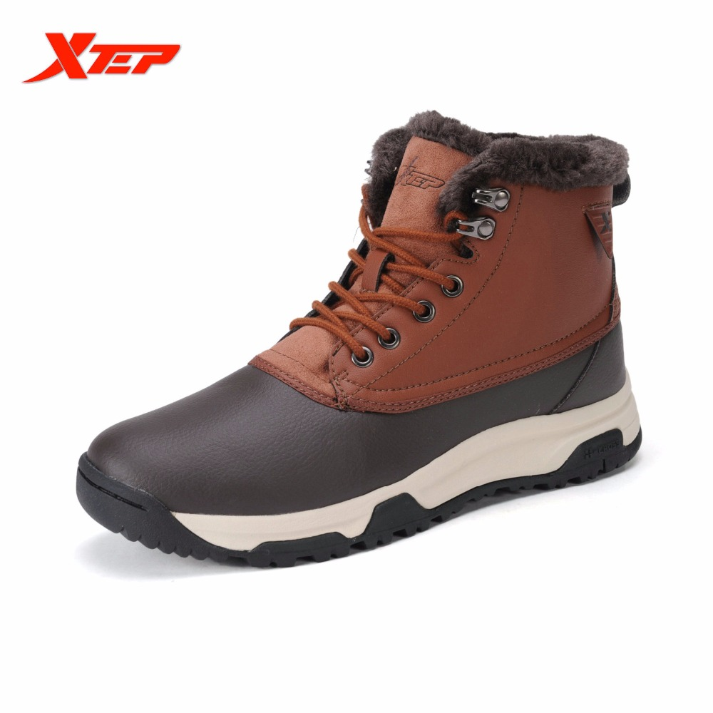 XTEP Brand Profession Hiking Shoes for Men Warm Thermal Climbing Boots Outdoor Trekking Mountain Men Shoes Sneakers 987319179397<br>