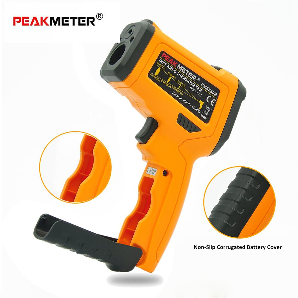 PEAKMETER Digital LCD Non-contact IR Infrared Thermometer Ambient Temperature Humidity Dew Point Tester K Type Thermocouple(China)