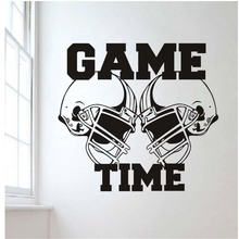 Wall Decal Vinyl Sticker Gym Sport Rugby American Football Game Time Decor Kids Room Wall Stickers