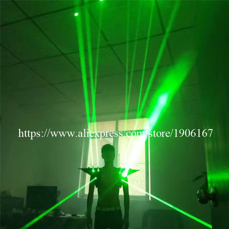 Fashion Red color men Laser vest Costumes cloth suit LED laser bar party props performing luminous clothing dj disco dress show02