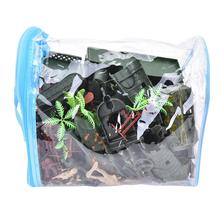 146pcs/set Hot Mini Military Equipment Plastic Soldier Model Toys For Boy Best Gift For Kids Toy Figures