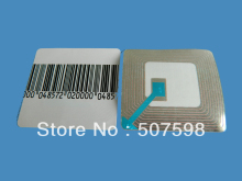 HZSECURITY, EAS soft label 40*40mm, 40000PCS per lot, RF  8.2mhz, RF soft label, EAS sticker