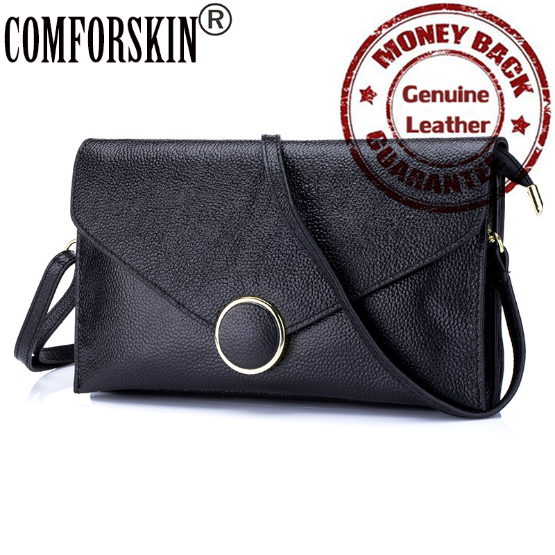 Luxurious First Layer Of Genuine Leather Ladies Shoulder Envelope Bag 2017 Feminina Designer Brand Fashion Women Messenger Bag<br>