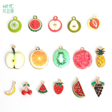 3-5pcs Drop Oil Enamel Metal Alloy Fruit Charms Pendant For Jewelry Making Earring Bracelet Necklace Craft DIY Jewelry Findings