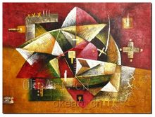 Hand Painted Abstract Oil Painting On Canvas Red Painting Home Decoration Living Room Wall Pictures Free Shipping
