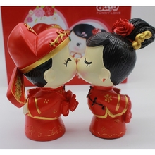 New minimalist retro style Chinese cute doll ornaments home decor crafts furnishings living room cabinet wine cabinet
