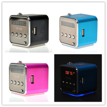 Hot Sale Portable Aluminum Alloy TD-V26 Black Pink Blue Mini Speaker Portable Sound Support Micro SD/TF FM Radio Amplifier Box
