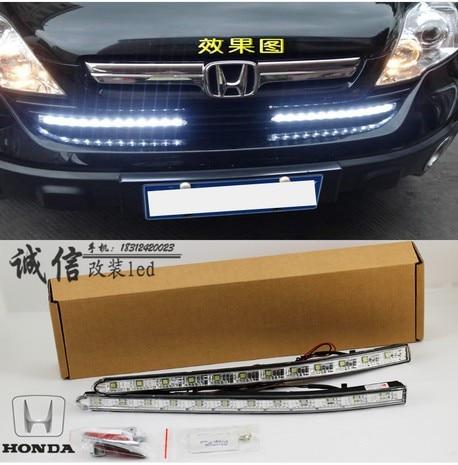 Hireno Car LED DRL Waterproof ABS 12V Daytime Running Lights for Hodna C-RV 2010 Fog lamp 2PCS<br><br>Aliexpress