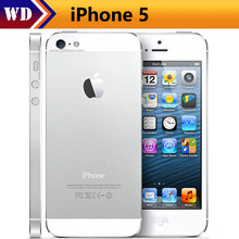 Original Iphone 5 A5  Factory Unlocked Cell Phone iOS OS Dual core 1G RAM 16GB 32GB 64GB ROM 4.0 inch 8MP Camera WIFI 3G GPS