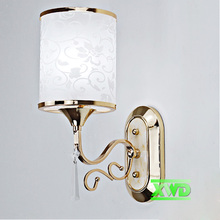 Modern Loft Industrial Wall Lamps Acryl Bedside Wall Light Glass Lampshade E27 Edison Bulbs 110V/220V lotus leaf Lamps