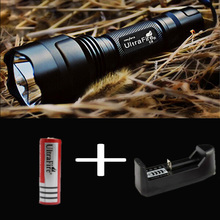 OEM LED Flashlight 2000 Lumens High Power CREE XM-L T6 C8 18650 Torch 5 Modes light lantern for Camping adventure+battery(China)
