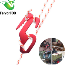 High quality Aluminum Alloy Tent Axeman Paracord Buckle Rope Puller Adjust Outdoor Equipment Travel Kit Guy Line(China)