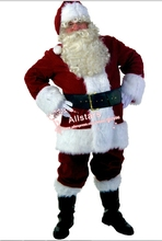 Free shipping wholesale New Christmas costumes santa claus red adult clothing halloween costumes  S M L XL XXL D-1820
