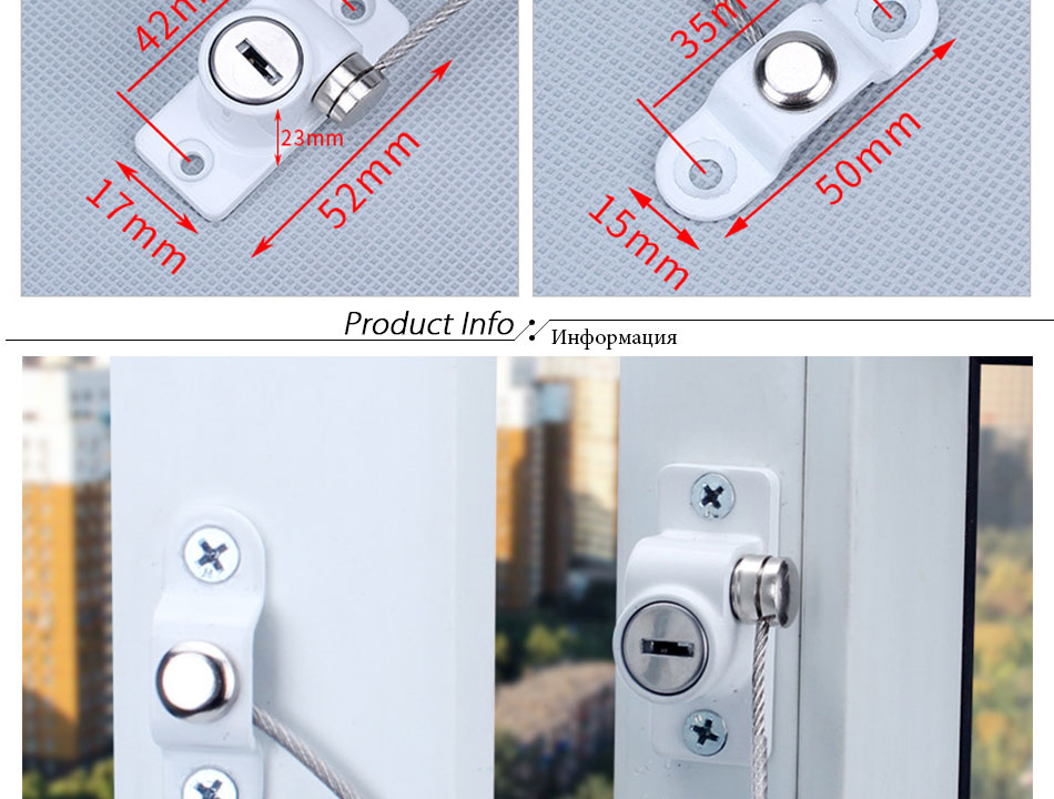 Kids Window Lock Protect Reducer Security Anti-theft Locks Limiter Supply ONE