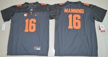 2016 Nike Youth Tennessee Volunteers Peyton Manning 16 College Limited Jersey Ice Hockey Jerseys- Grey Size S,M,L,XL(China)