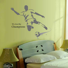100*120cm Decorative removable football wall sticker for kids bedroom cheap children wall decals home decor wallpaper
