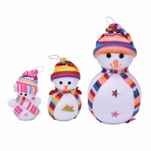 Lovely 1PC Exclusive Christmas Decoration Tree Decorations Snowman Doll Christmas Socks Children's Gift Tiny Toy