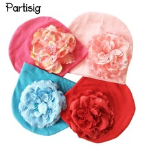 Baby Hat Big Floral Baby Girls Hats Flower Baby Girls Caps Children's Spring Autumn Winter Hats For Girls Kids Accessories