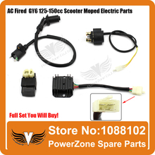 GY6 50cc 125cc 150cc Scooter Moped Motorcycle Ignition Coil + CDI UNIT + 4Pin Rectifier Regulator + Solenoid Relay Free Shipping(China)