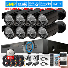 Super 5MP SONY 2592x1944 home Camera Security Surveillance CCTV System 8Channel AHD 5MP DVR recorder system USB 3G WIFI dvr 2TB