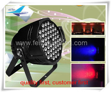 O- 4pcs led par 64 3 watts 54 rgb leds aluminum black and white color body dmx 512 control 6-8 CH stage lighting effect