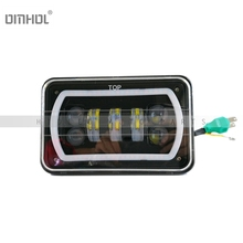"Free Shipping 1pc 4x6"" LED Projector Headlight Work Light For Wrangler And Other Vehicles(China)"