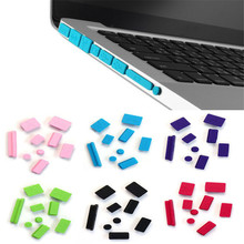 Malloom 2017 Top quality 9pcs Silicone 5 Colors Anti Dust Plug Ports Cover Set For PC Laptop Macbook Pro 13 15 Cute #LYMA11
