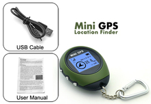 Handheld Keychain Mini GPS Navigation USB Rechargeable For Outdoor Sport Travel  Wholesale