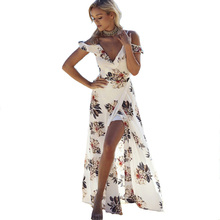 Meileiya 2017 The explosion of new holiday beach Asymmetrical dress Bohemia stamp irregular split large swing dress Short