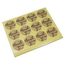 1500Pcs/ Lot THANK YOU Circle Design Kraft Paper Sticker Labels Seal 3.8cm Gift Stickers Event Party Seals Cooking Bread Label