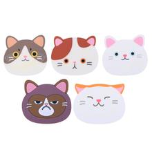 Cute Cartoon Cat Coffee Drinks Coasters Cup Mat Dining Table Placemat PVC Insulated Pad Table Decoration Kitchen Accessories(China)