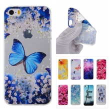 Cute Bear Butterfly Cartoon Case sFor Coque Apple iPhone 5 5S SE 5SE Case Rose Soft TPU Phone Protective Back Cover