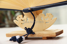 4.5*9.5*4cm wooden hand fan stand cradle for 21-23cm gift hand fan display(China)