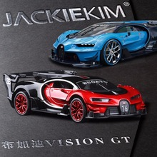 New 1:32 Bugatti Vision GT Gran Turismo Car Model Toy With Pull Back Musical Flashing Fast Furious Need Speed Car For Kids Toy