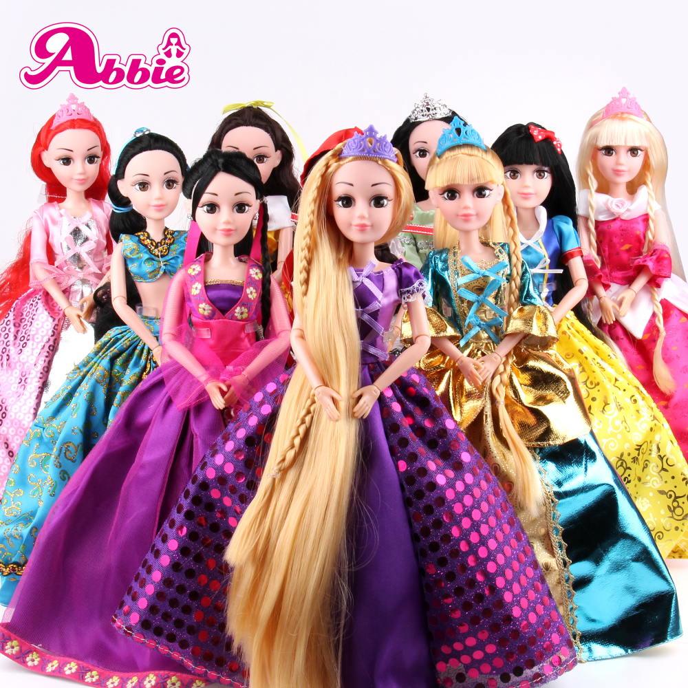 Abbie Doll 10 Different Models to Chose Cinderella Rapunzel Mermaid Snow White Beauty Princess Best Friend Play with Chirldren<br><br>Aliexpress