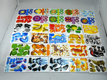 12PCS Wholesale! HOT!3D three-dimensional foam paper  puzzle Animal  toy